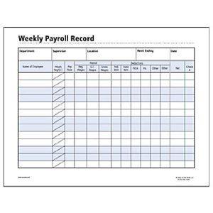 free printable payroll forms