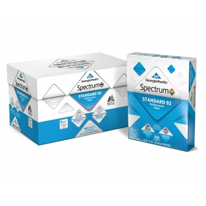Georgia-Pacific Spectrum Standard 92 Multipurpose Paper, 8.5 x 11, 20 lb., 92 Brightness, 10 ream case, 5,000 sheets