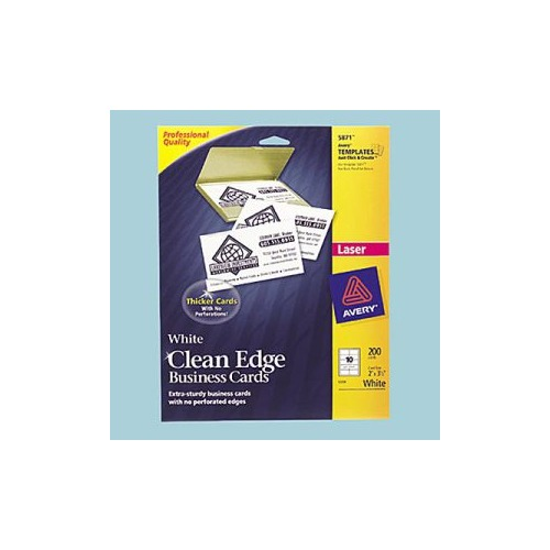 Avery Clean Edge Ink Jet Business Cards AVE8872