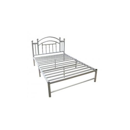 hodedah import twin metal bed hoahi805twinsilver. Black Bedroom Furniture Sets. Home Design Ideas