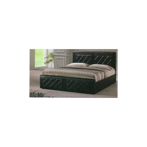 hodedah import queen pvc bed hoahi820queenblack. Black Bedroom Furniture Sets. Home Design Ideas