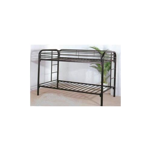 hodedah import metal bunk bed twintwin hoasc4005black. Black Bedroom Furniture Sets. Home Design Ideas