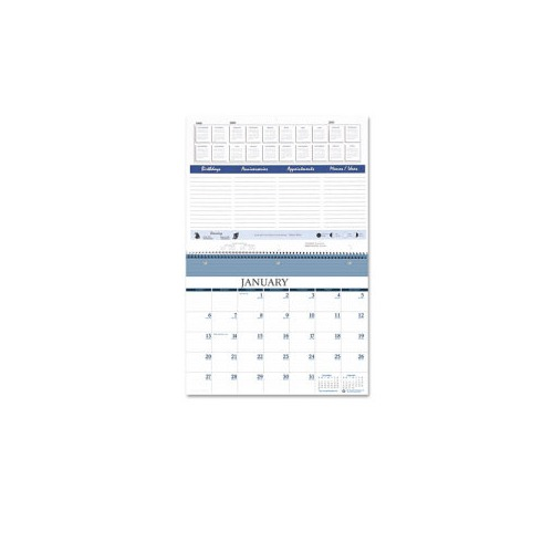 Monthly Calendar Notebook : House of doolittle monthly wall notebook calendar hod